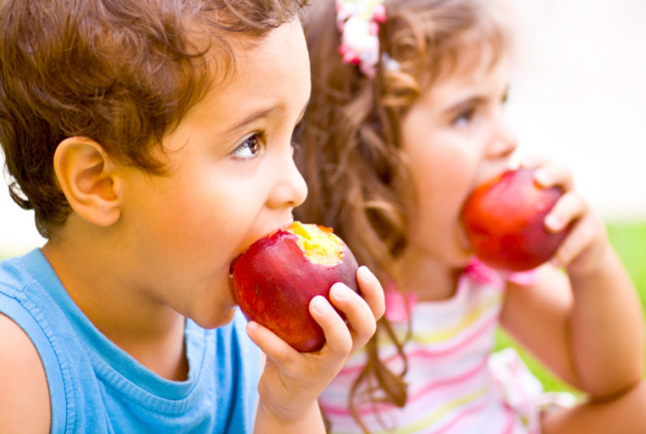 DJ Forry kids eating fruit image